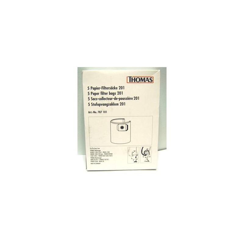 Popieriniai maišeliai Thomas siurbliam 201 787101