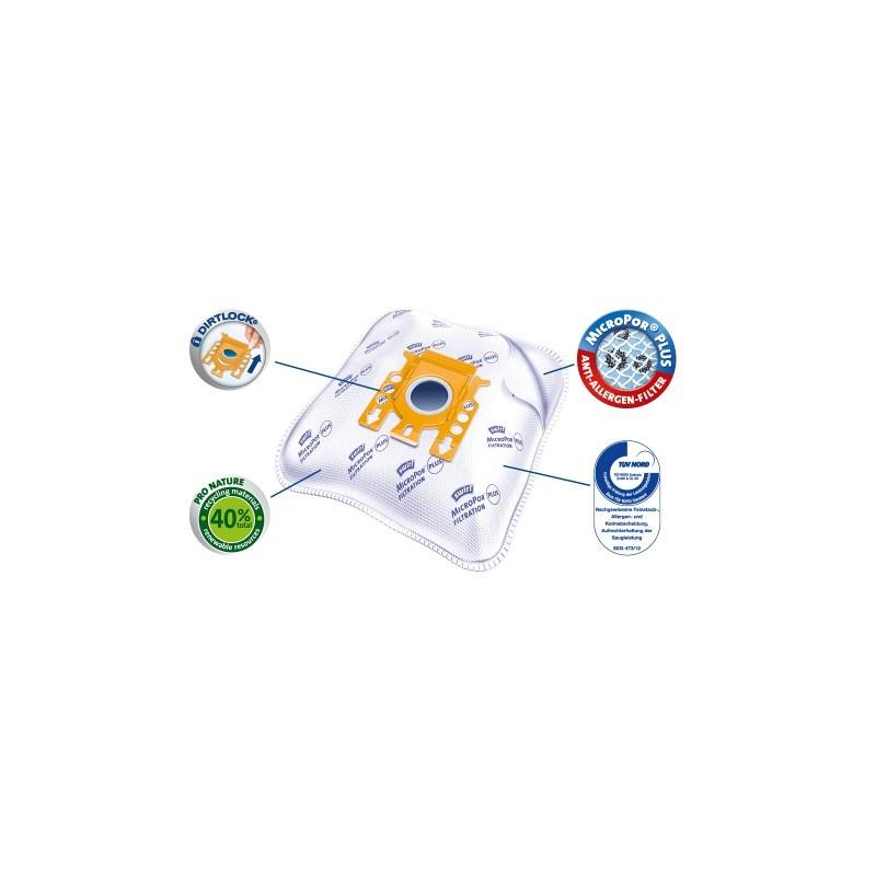 Clatronic premium 4 vnt dulkių siurblių maišeliai YVI101-4