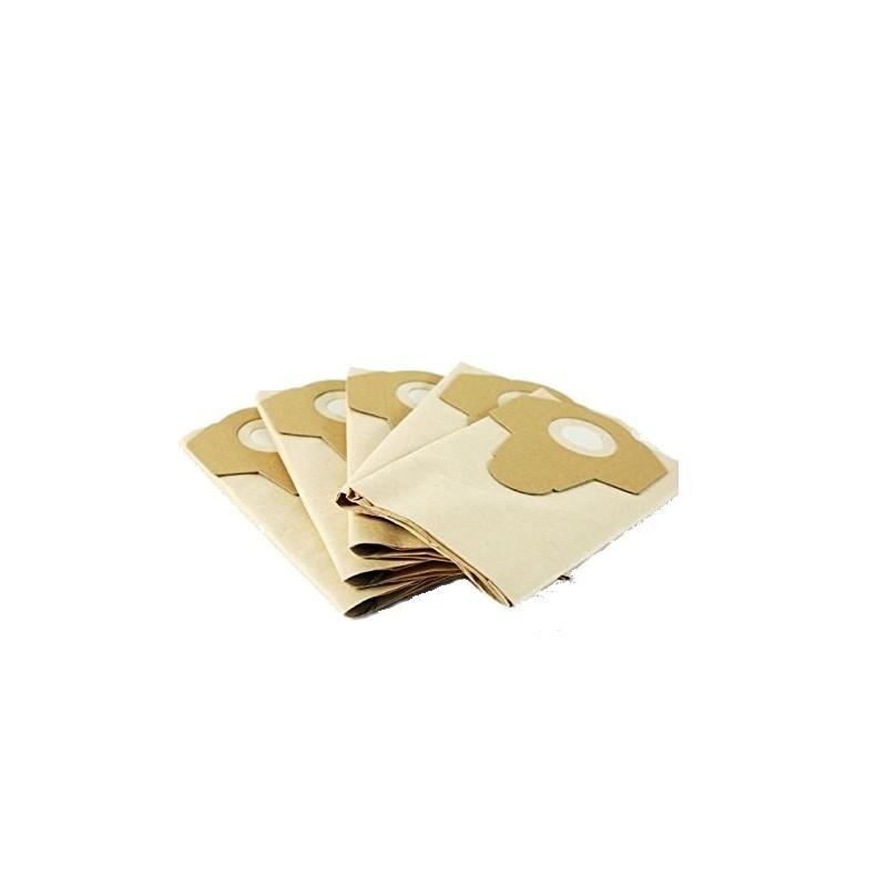5 vnt Grizzly popierinis siurblių maišelis 20 L talpos, 5vnt komplekte