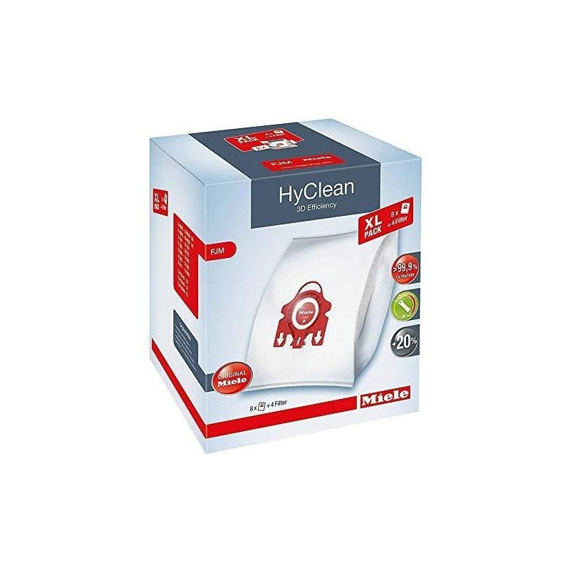8vnt MIELE FJM HyClean 3D XL dulkių siurblių maišelių