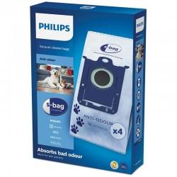 S-BAG dulkių siurblių maišeliai Philips Anti-Odour FC8023-04