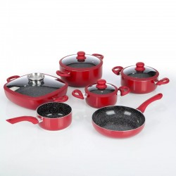 Keramikinis puodų rinkinys Gourmet Maxx 6+4 (tinka indukcinėms kaitlentėms) r
