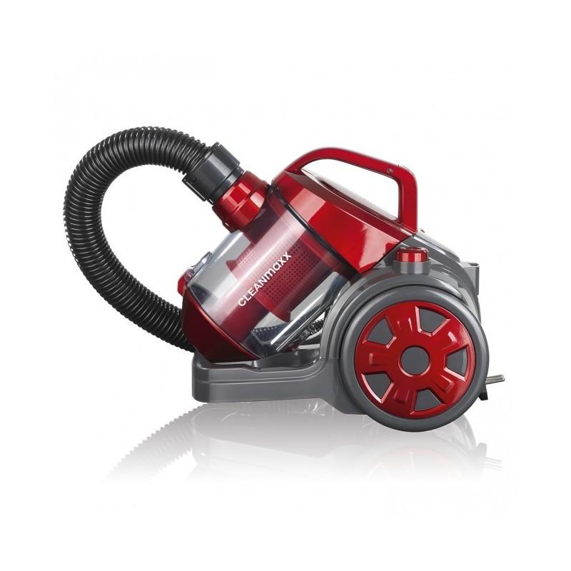 CleanMaxx raudonas cikloninis siurblys be maišelių (sušlapusi dėžutė)