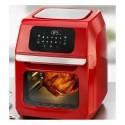 12 litrų GourmetMaxx oro gruzdintuvė be aliejaus raudona su priedu