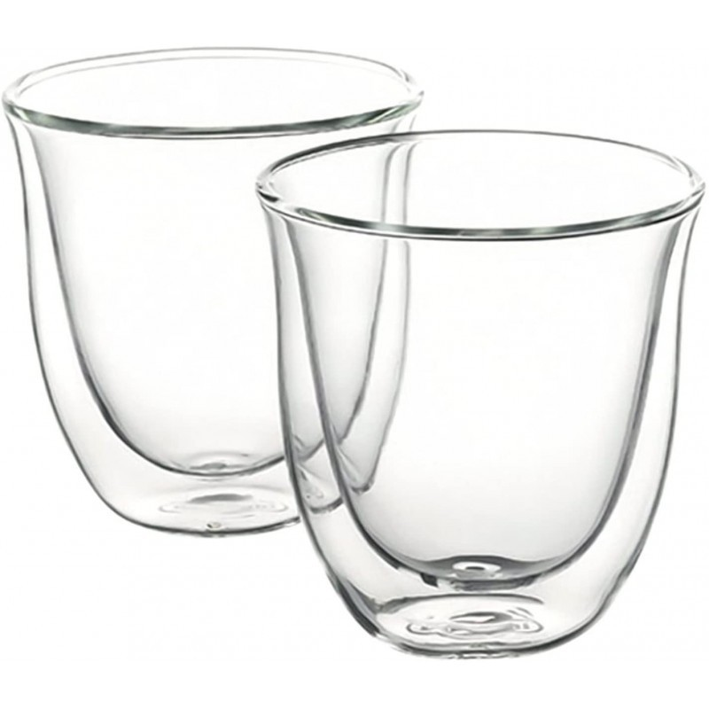 2vnt Delonghi Cappuccino dvigubo stiklo puodeliai stikinės 190ml