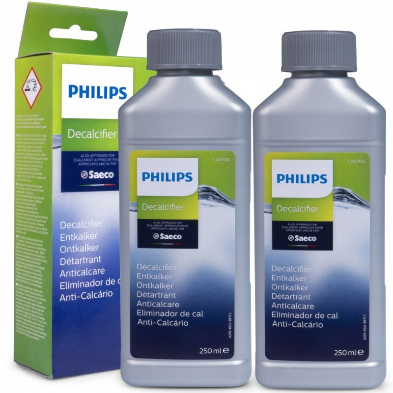 2vnt Philips Saeco kavos aparatų nukalkinimo skystis CA6700 2x250ml