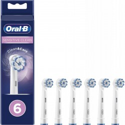 6 Braun OralB Sensitive Clean apvalios keičiamos šepetėlių galvutės