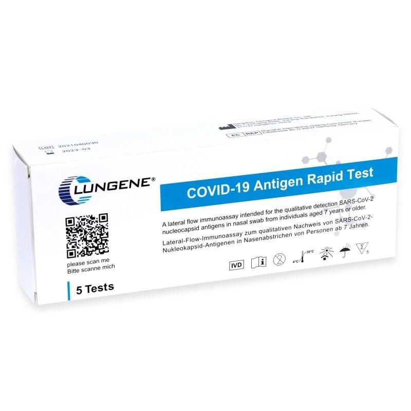 Lungene 5vnt greitasis artimos nosies su pagaliukų testas Covid19 antigeno testai