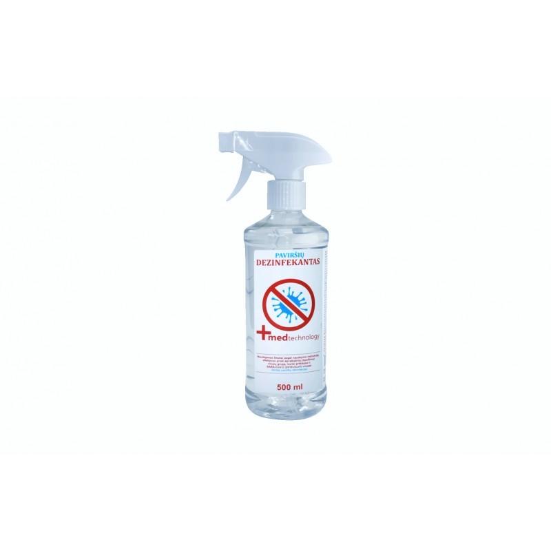 Paviršių dezinfekantas 500 ml dezinfekcinis Covid skystis paviršių dezinfekcijai