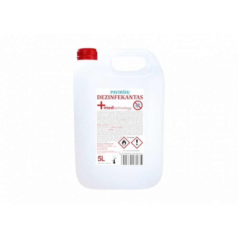 Paviršių dezinfekantas 5 l - dezinfekcinis Covid skystis paviršių dezinfekcijai